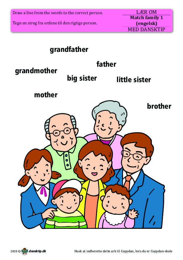 Kopiark/opgave:Match family 1