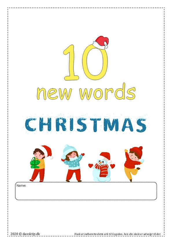 Kopiark/opgave:10 new word christmas