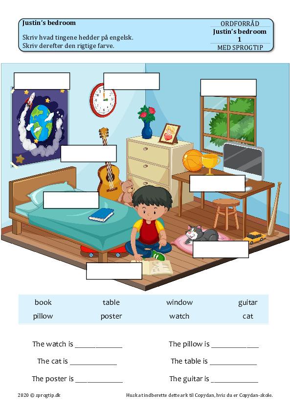 Kopiark/opgave:Justin's bedroom (4 ark)