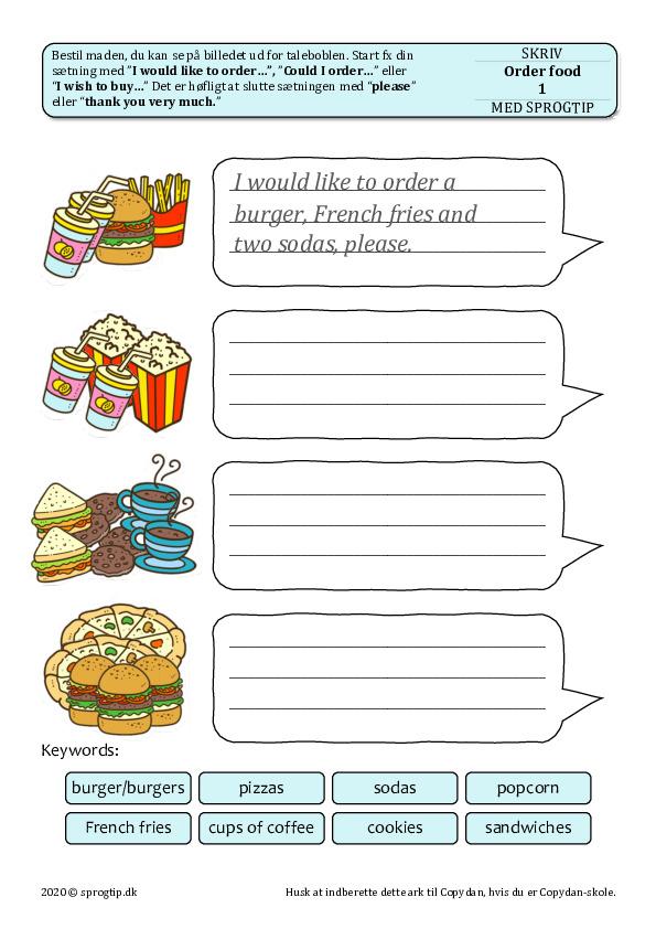 Kopiark/opgave:Order food 1