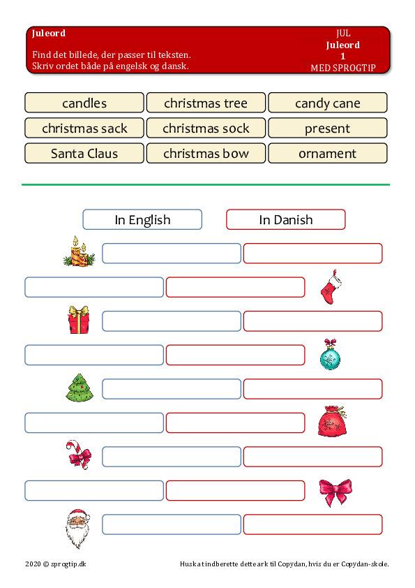Kopiark/opgave:Christmas words 1