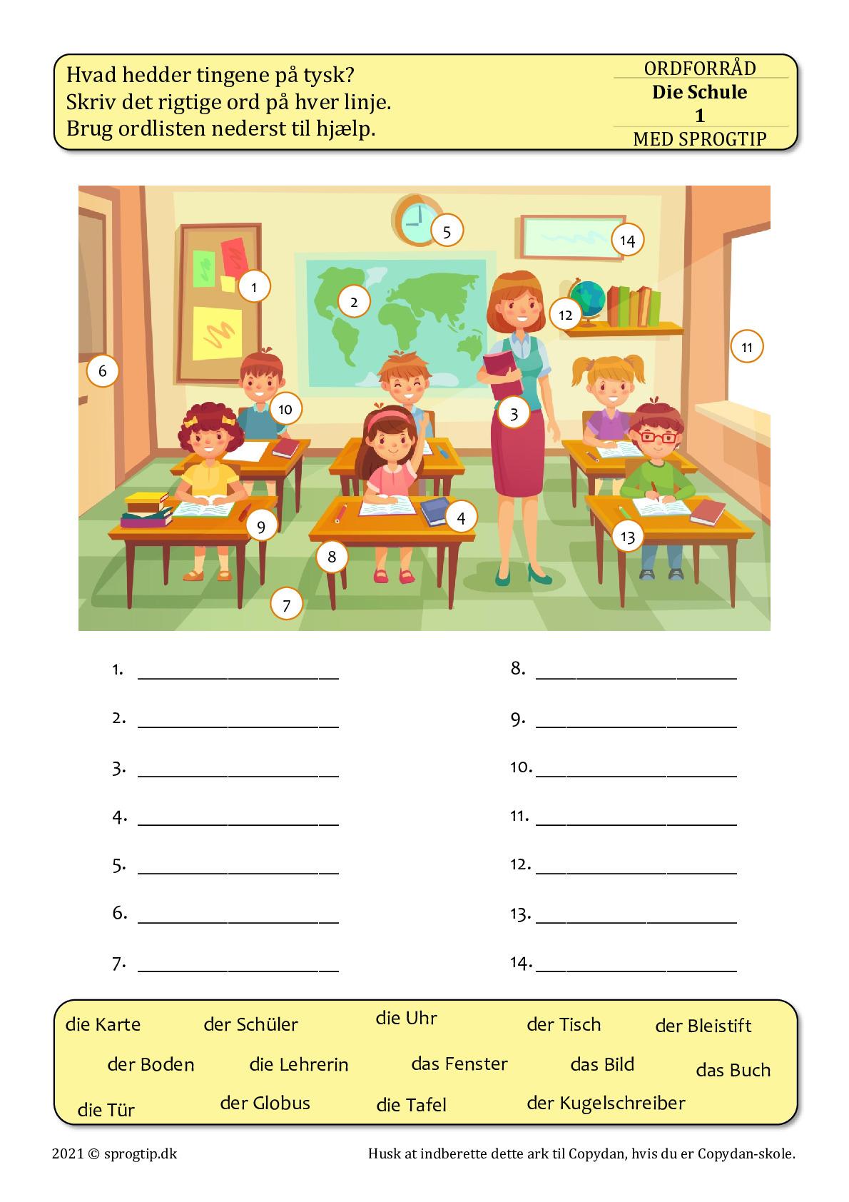 Kopiark/opgave:Die Schule 1