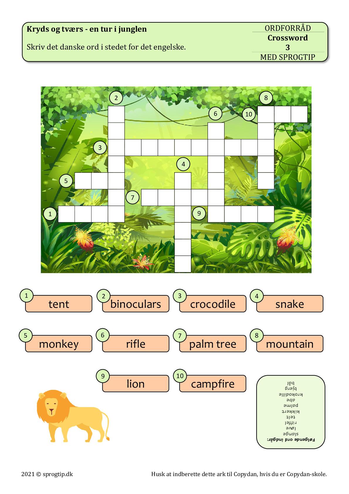 Kopiark/opgave:Crossword 3