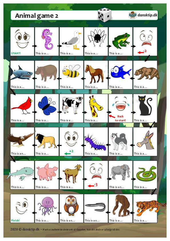Kopiark/opgave:Animal game 2