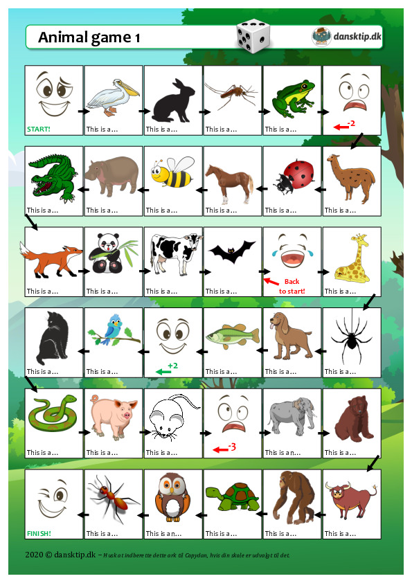 Kopiark/opgave:Animal game 1