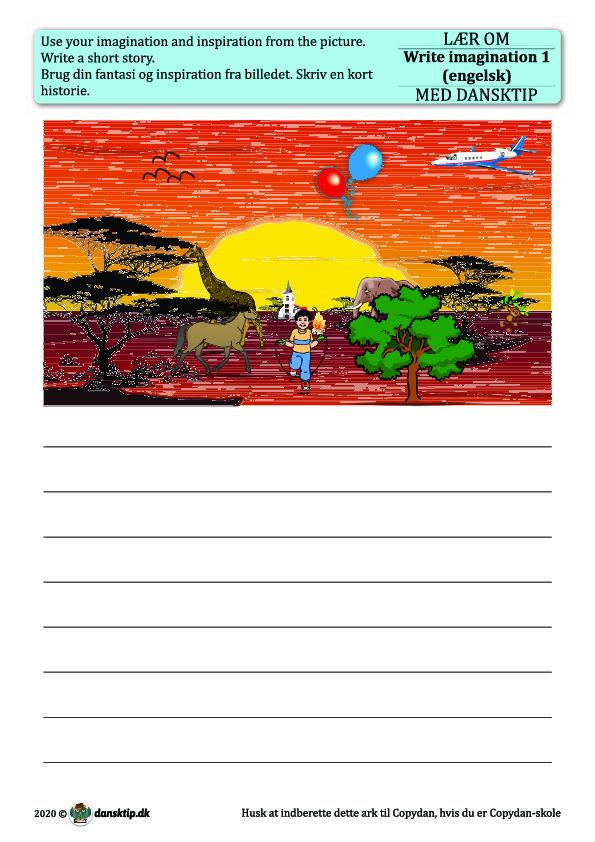 Kopiark/opgave:Write imagination 1