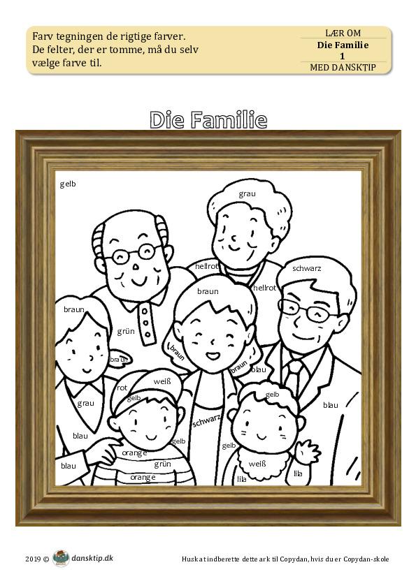 Kopiark/opgave:Die Familie 1