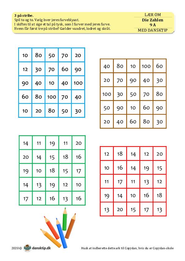 Kopiark/opgave:Die Zahlen 9