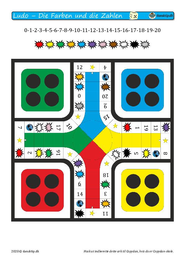 Kopiark/opgave:Ludo tal og farver